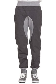 BLUE EYE POP - Spodnie z kontrastowym ściągaczem Mbep_Sp07
