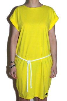 MALENKA HEADWEAR - DEEP SEA BABY jersey dress TANG/yellow