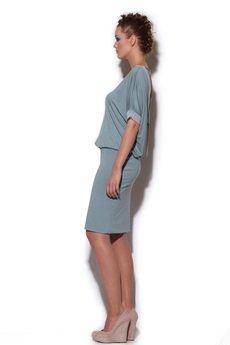 - sukienka PASTELA z dekoltem V