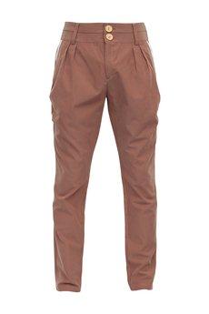 - spodnie bufki ceglaste