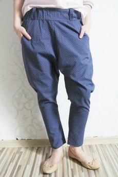 Brunoszka - blue/dots/baggy/trousers
