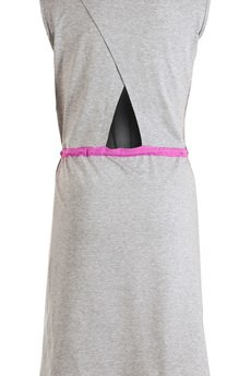 BONJOUR and KISS - Sukienka z różowym paskiem