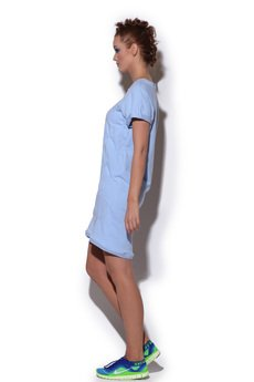 FENOMENALE - sukienka strukturalna BLUE