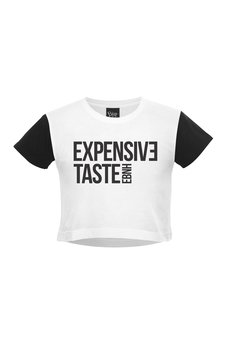 - Crop Top Expensive Taste White