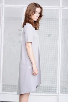Paradox - Sukienka Harmony w kolorze gołębim