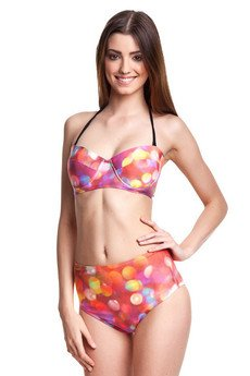 Mr. Gugu & Miss Go - Bokeh high-waisted bikini bottom