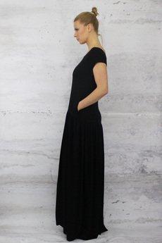 - LINDA total long jersey dress