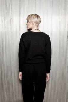 MAÑANA - Bluza HOMBRO negro
