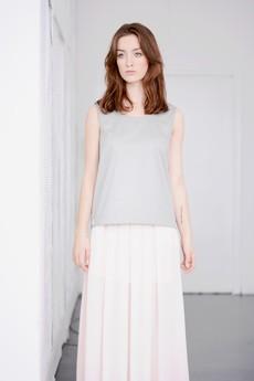 Paradox - Spódnica BELLEZA z rozporkami w kolorze pudrowego różu