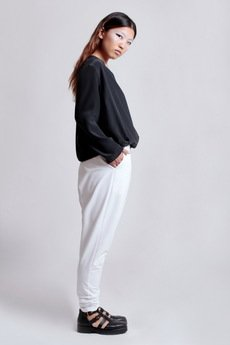 {basic station} - WHITE NIMBO TROUSERS SKYCLOUDS ss'14