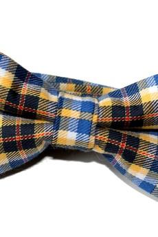 bowstyle - Mucha gotowa bowstyle Żółto-niebieska kratka