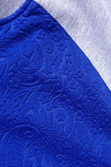LA PSYCHE - VARISTY JACKET BLUE FLOWERS