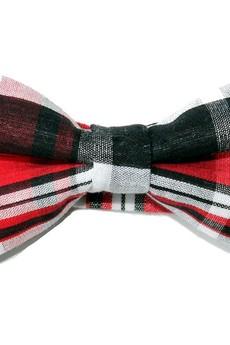 bowstyle - Mucha gotowa bowstyle Czerwono-czarna kratka