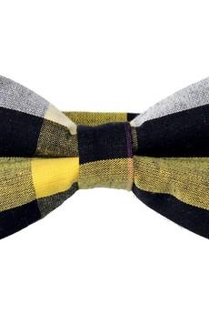 bowstyle - Mucha gotowa bowstyle Żółto-czarna krata