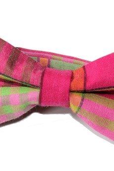 bowstyle - Mucha gotowa bowstyle Różowa krata