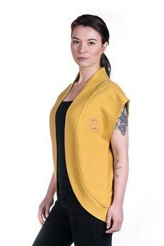 Slogan ubrania ekologiczne, etyczne i wegańskie - CITY kamizelka damska honey