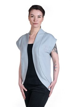 Slogan ubrania ekologiczne, etyczne i wegańskie - CITY kamizelka damska gray