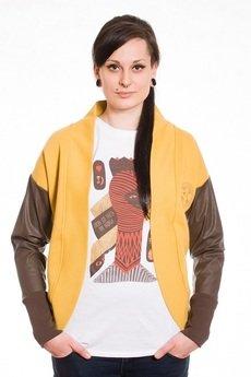 Slogan ubrania ekologiczne, etyczne i wegańskie - Chelsea bluza damska honey
