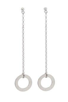 Jelly - Złote lub srebrne długie kolczyki z kółeczkami