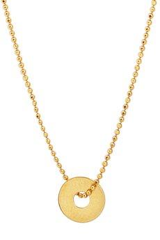 Jelly - Złoty i srebrny naszyjnik z małym kółeczkiem z jedną dziurką