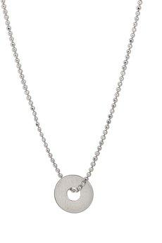 - Złoty i srebrny naszyjnik z małym kółeczkiem z jedną dziurką