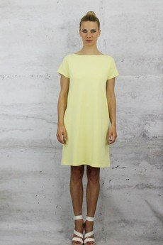 YES TO DRESS by Bożena Karska - CLOUD yellow jersey dress