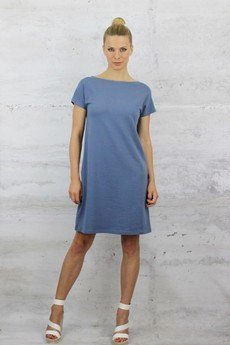 "YES TO DRESS by Bożena Karska - CLOUD ""bluejeans"" jersey dress"