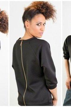 - Bluza z czarnej pikówki
