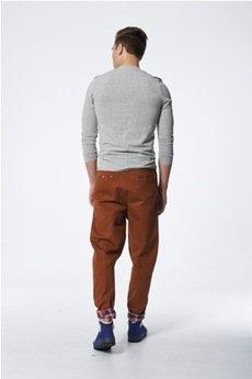 MADOX design - spodnie madoxy brązowe z kratką