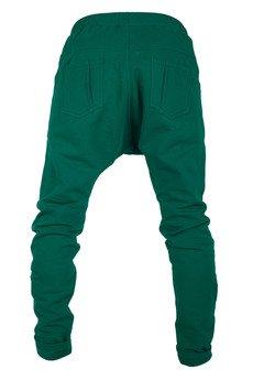 MADOX design - spodnie dresowe niski krok butelkowa zieleń