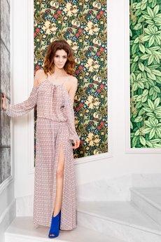 Karen Paul - Przepiękna maxi sukienka z opadającymi rękawami