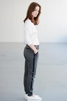 Paradox - Spodnie TALLULAH z lakierowanym lampasem