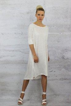 YES TO DRESS by Bożena Karska - LINO 100% linen jersey oversize dress