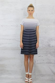 YES TO DRESS by Bożena Karska - CLOUD striped jersey dress