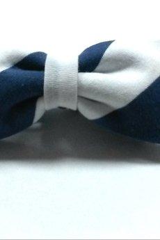 BLUE EYE POP - Muszka w biało-niebieskie paski