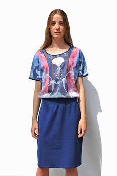 COLORAT - Sukienka Shell Blue