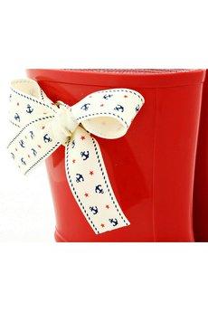 - Red Marine Bow - kaloszki dla dzieci
