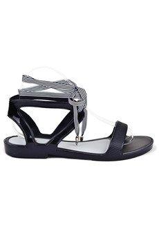 RUBBERIES - Summer Black Jelly - sandały dla kobiet