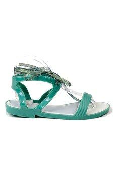 RUBBERIES - Summer Green Jelly - sandały dla kobiet