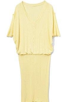 FENOMENALE - sukienka PASTELA żółta