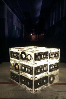 sl - Biała lampa sześcian