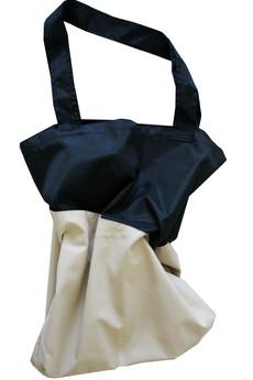 Bagasz - MODEL TWO COLOURS/ czarny połysk-nude