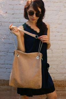 - beżowa torba