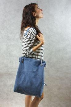 drops - duża niebieska torba