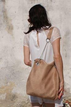 drops - beżowa torba