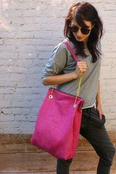 - duża różowa torba