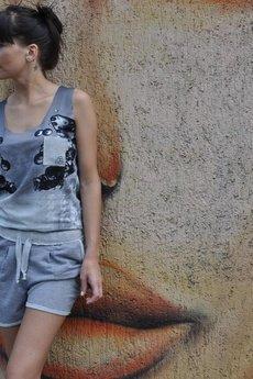 DZADZU by Olga Wawrzyniak - Top bąbelki gray