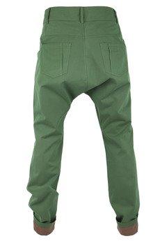- spodnie z niskim krokiem w odcieniu soczystej zieleni