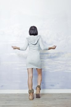 RISK made in warsaw - sukienka SEXY HOODIE