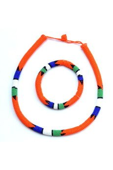 - MERAKI Orange Zulu South African Necklace
